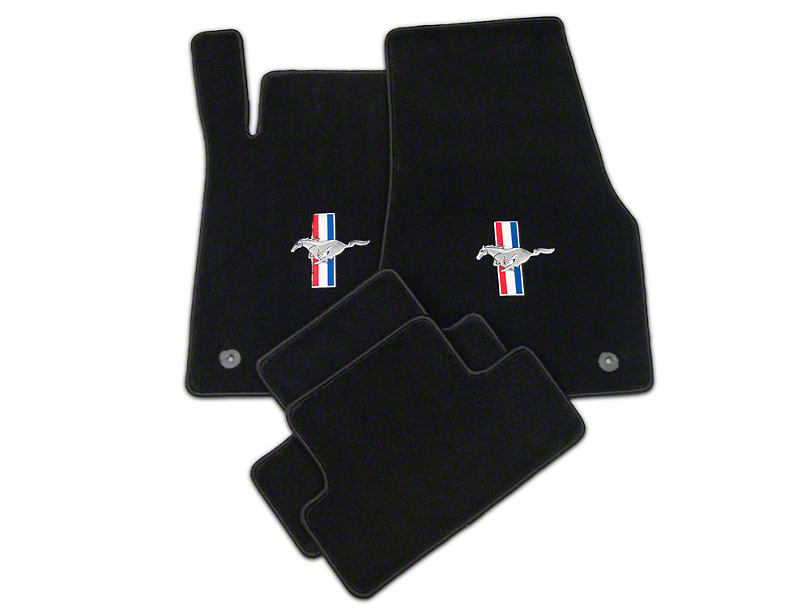 Lloyd Black Floor Mats - Tri-Bar Pony Logo (13-14 All)