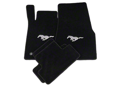 Lloyd Black Floor Mats - Pony Logo (11-12 All)