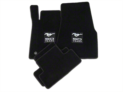 Lloyd Black Floor Mats - 50th Anniversary Logo (11-12 All)