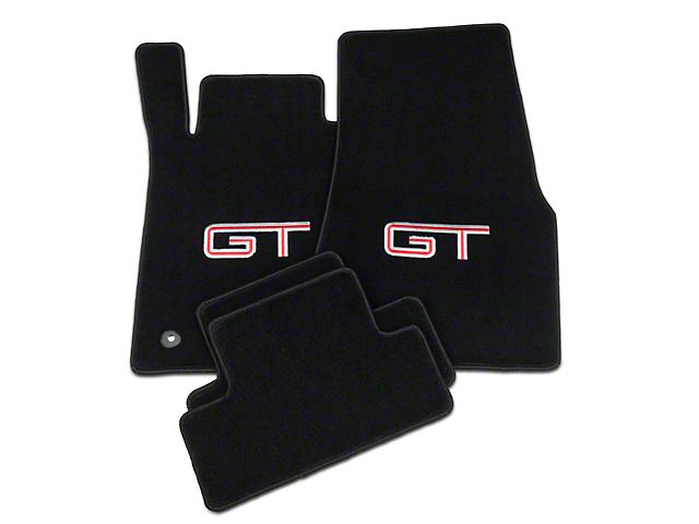 Lloyd Black Floor Mats - Silver & Red GT Logo (11-12 All)
