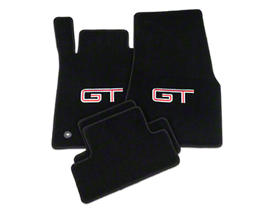 Lloyd Black Floor Mats - Silver & Red GT Logo (11-12 All)