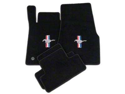 Lloyd Black Floor Mats - Tri-Bar Pony Logo (11-12 All)