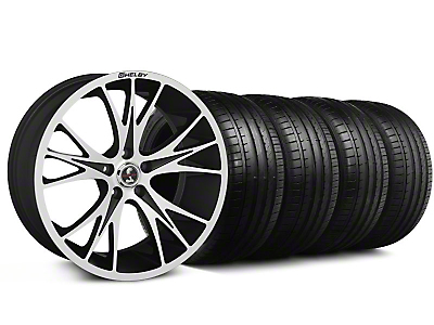 Shelby CS-1 Black Machined Wheel & Falken Tire Kit - 20x9 (05-14 All)