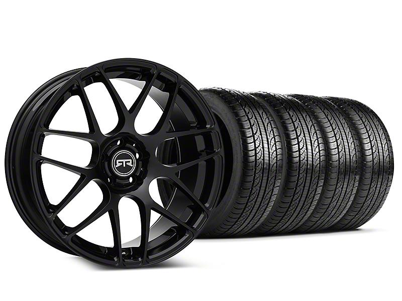 Staggered RTR Black Wheel & Pirelli Tire Kit - 19x8.5/10 (05-14 All)