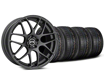 Staggered RTR Charcoal Wheel & NITTO INVO Tire Kit - 19x8.5/10 (05-14 All)