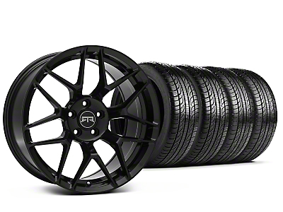 Staggered RTR Tech 7 Black Wheel & Pirelli Tire Kit - 19x9.5/10.5 (05-14 All)