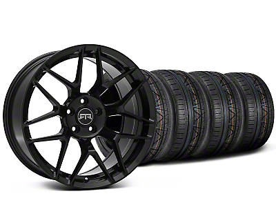 Staggered RTR Tech 7 Black Wheel & NITTO INVO Tire Kit - 19x9.5/10.5 (05-14 All)