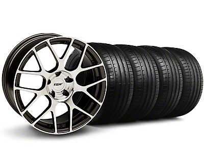Staggered TSW Nurburingring Gunmetal Wheel & Falken Tire Kit - 18x8/9 (05-14)