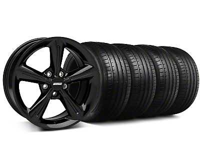 Staggered 2010 OE Black Wheel & Falken Tire Kit - 18x8/10 (05-14 GT, V6)