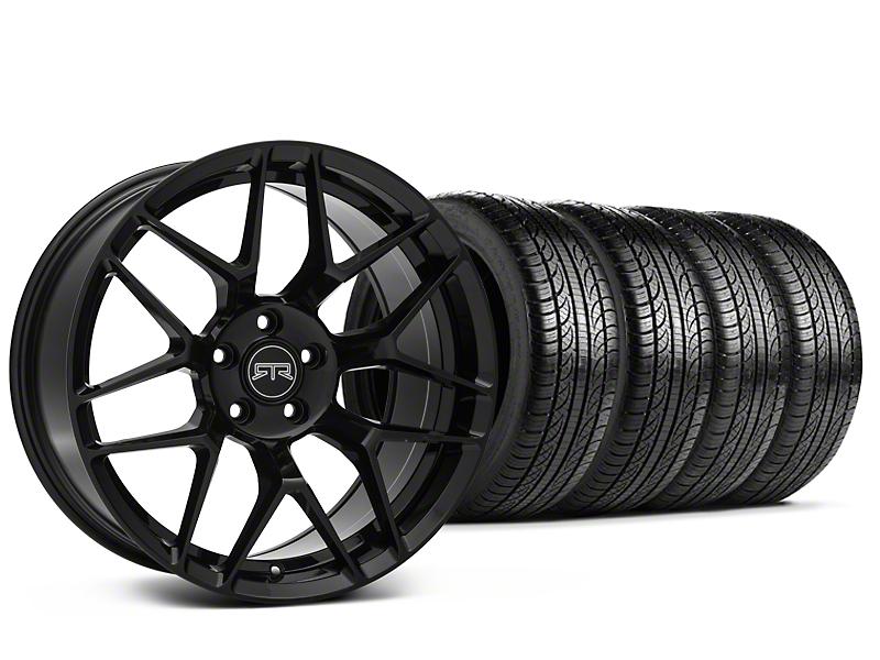 Staggered RTR Tech 7 Black Wheel & Pirelli Tire Kit - 19x9.5/10.5 (15-16 All)