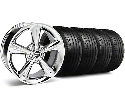 Staggered 2010 OE Chrome Wheel & Falken Tire Kit - 18x8/10 (05-14 GT, V6)