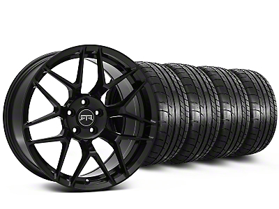 Staggered RTR Tech 7 Black Wheel & Mickey Thompson Tire Kit - 19x9.5/10.5 (15-16 All)