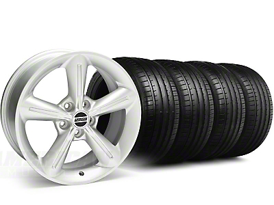 Staggered 2010 OE Silver Wheel & Falken Tire Kit - 18x8/10 (05-14 GT, V6)