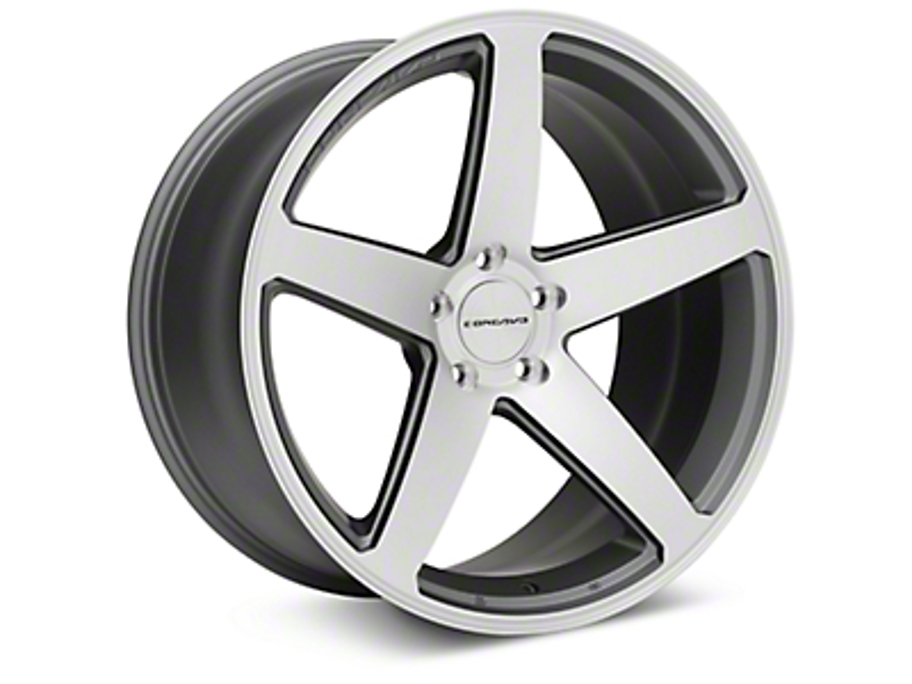 Concavo CW-5 Matte Gray Machined Wheel - 20x10.5 (15-17 All)