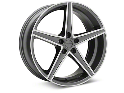 Sporza Topaz Gunmetal Machined Wheel - 20x8.5 (05-14 All)