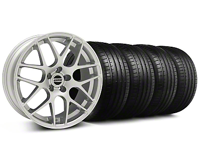 Staggered AMR Silver Wheel & Falken Tire Kit - 18x9/10 (05-14 All, Excludes 13-14 GT500)