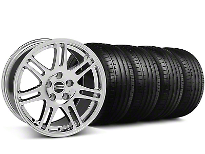Staggered 10th Anniversary Cobra Style Chrome Wheel & Falken Tire Kit - 18x9/10 (05-14)