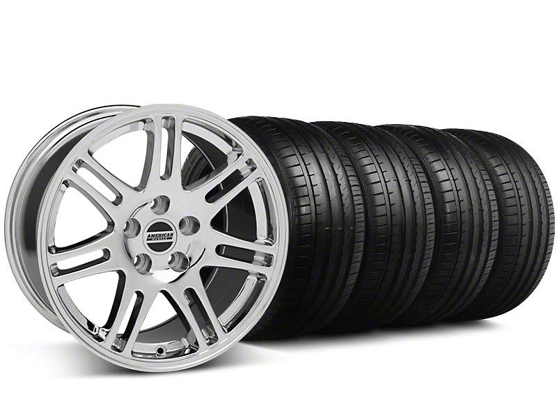 Staggered 10th Anniversary Cobra Chrome Wheel & Falken Tire Kit - 18x9/10 (05-14)