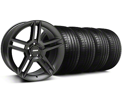 Staggered 2010 GT500 Style Matte Black Wheel & Falken Tire Kit - 18x9/10 (05-14)