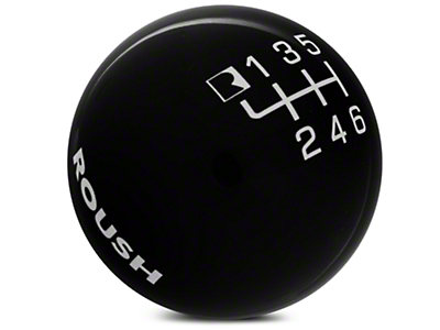 Roush 6-Speed Shift Knob - Black (15-17 GT, EcoBoost, V6)