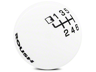 Roush 6-Speed Shift Knob - White (15-17 GT, EcoBoost, V6)