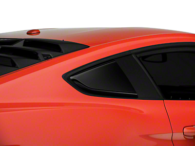 Roush Quarter Window Scoops - Painted Black (15-17 All)