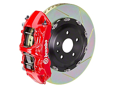 Brembo GT 6-Piston Front Brake Kit Red - 15in Type 1 Slotted (11-14 GT Brembo, 12-13 BOSS, 07-12 GT500)