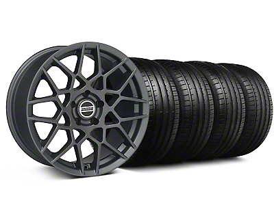 Staggered 2013 GT500 Style Charcoal Wheel & Falken Tire Kit - 18x9/10 (05-14 All)