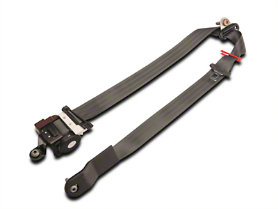 Ford Front Seat Belt Assembly w/ Retractor - Dark Charcoal Left Side (Mid 02-04 Coupe)