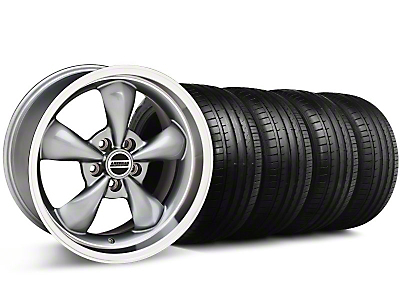 Staggered Deep Dish Bullitt Anthracite Wheel & Falken Tire Kit - 18x9/10 (05-14 GT, V6)