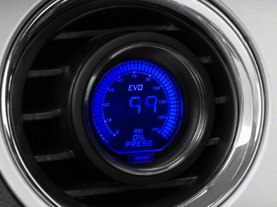 Dual Color Oil Pressure Digital Gauge - Electric, Blue/Red (79-15 All)
