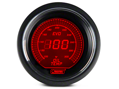 Dual Color Digital Oil Temp Gauge - Electric, Blue/Red (79-17 All)