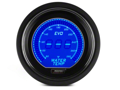 Dual Color Digital Water Temp Gauge - Electric, Blue/Red (79-15 All)