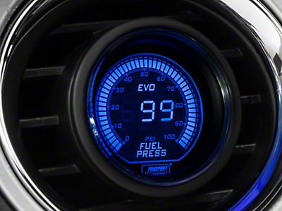Dual Color Fuel Pressure Digital Gauge - Electric, Blue/Red (79-16 All)