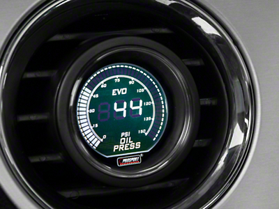 Dual Color Oil Pressure Digital Gauge - Electric, Green/White (79-17 All)