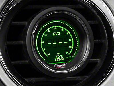Dual Color Digital Exhaust Gas Temp Gauge - Electric, Green/White (79-16 All)
