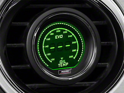 Dual Color Digital Oil Temp Gauge - Electric, Green/White (79-16 All)