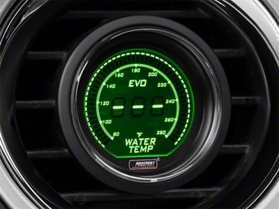 Dual Color Digital Water Temp Gauge - Electric, Green/White (79-16 All)