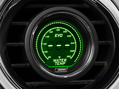 Dual Color Digital Water Temp Gauge - Electric, Green/White (79-17 All)