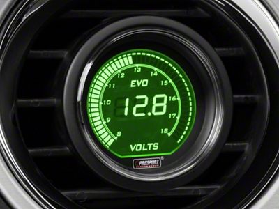 Dual Color Digital Voltmeter Gauge - Electric, Green/White (79-16 All)