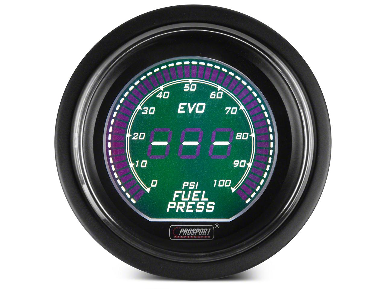 Dual Color Digital Fuel Pressure Gauge - Electric, Green/White (79-17 All)