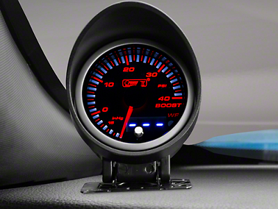 Dual Display Boost/Vac Gauge - 40psi Electric, Amber/White (79-17 All)