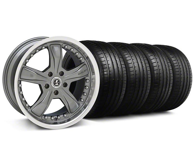 Shelby Staggered Razor Gunmetal Wheel & Falken Tire Kit - 18x9/10 (05-14)