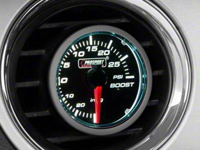 Dual Color Boost/Vac Gauge - 30psi Electric, Blue/White (79-16 All)