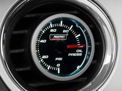 Dual Color Oil Pressure Gauge - Electric, Blue/White (79-15 All)