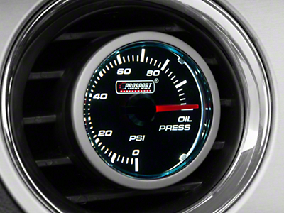 Dual Color Oil Pressure Gauge - Electric, Blue/White (79-17 All)