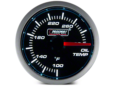 Dual Color Oil Temp Gauge - Electric, Blue/White (79-16 All)