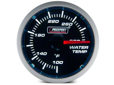 Dual Color Water Temp Gauge - Electric, Blue/White (79-15 All)