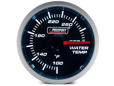 Dual Color Water Temp Gauge - Electric, Blue/White (79-16 All)