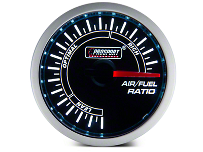 Dual Color Air/Fuel Ratio Gauge - Blue/White (79-16 All)